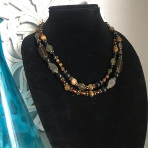 Coldwater Creek Double Strand Beaded Necklace